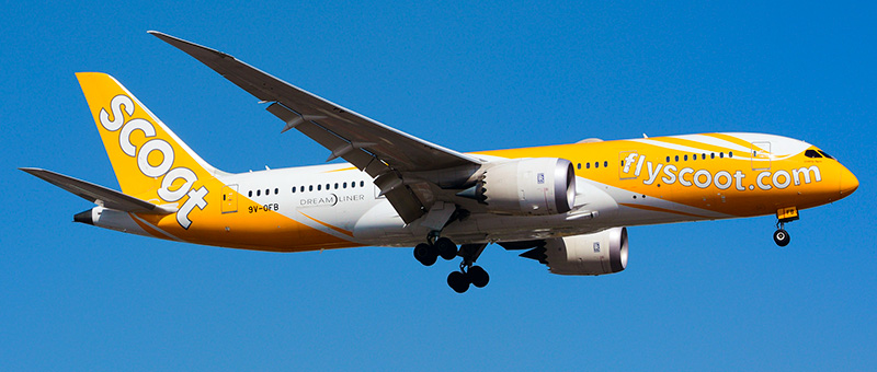 """Seat map Boeing 787-8 """"Scoot Airlines"""". Best seats in the plane"""