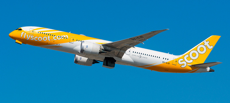 Boeing 787-9 Scoot Airlines. Photos and description of the plane