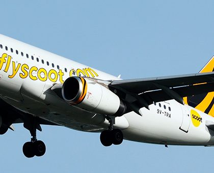 "Seat map Airbus A319-100 ""Scoot Airlines"". Best seats in the plane"