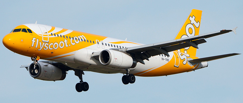 """Seat map Airbus A320-200 """"Scoot Airlines"""". Best seats in the plane"""
