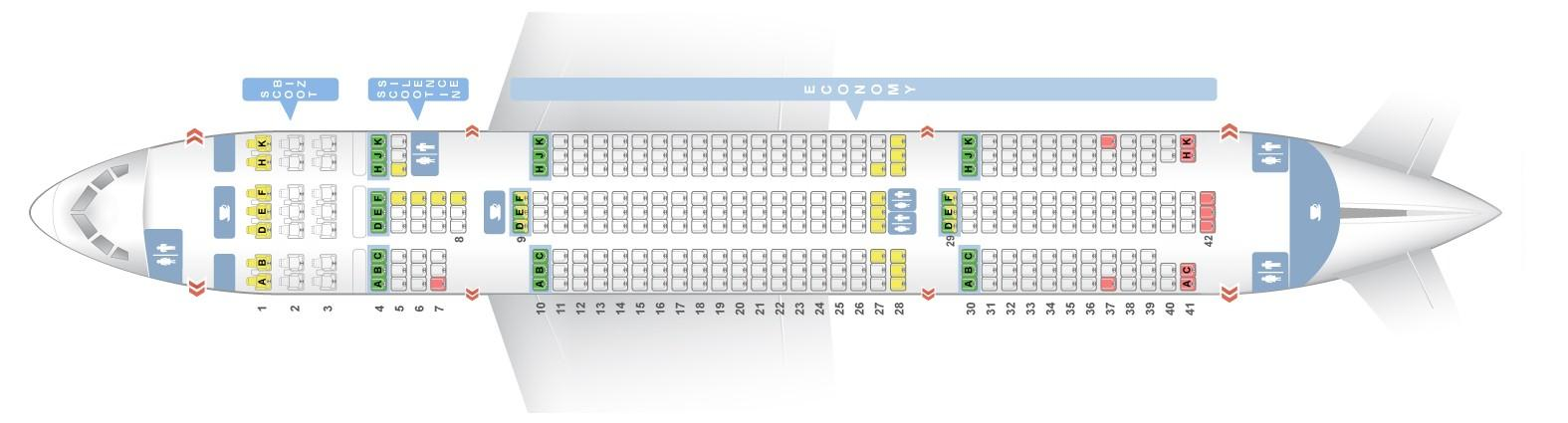 seat map boeing 787 8 scoot airlines best seats in the plane