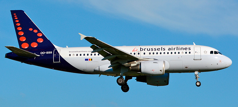 "Seat map Airbus A319-100 ""Brussels Airlines"". Best seats in the plane"