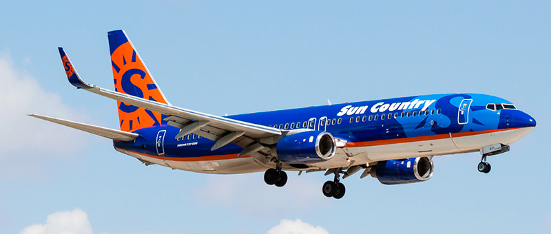 Boeing 737-800 Sun Country Airlines. Photos and description of the plane