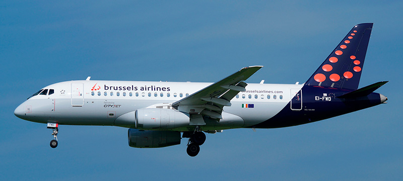 """Seat map Sukhoi Superjet 100 """"Brussels Airlines"""". Best seats in the plane"""