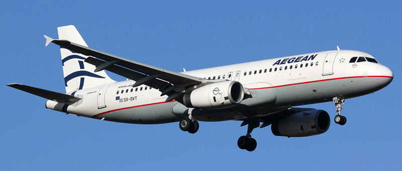 """Seat map Airbus A320 """"Aegean Airlines"""". Best seats in the plane"""