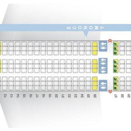 "Seat map Boeing 787-9 ""Norwegian Air Shuttle"". Best seats in the plane"