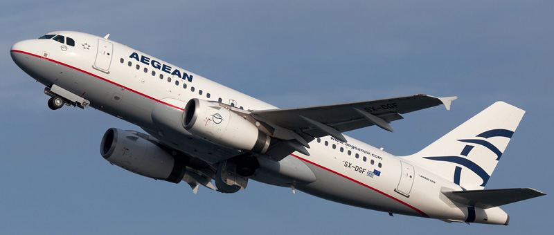 """Seat map Airbus A319 """"Aegean Airlines"""". Best seats in the plane"""