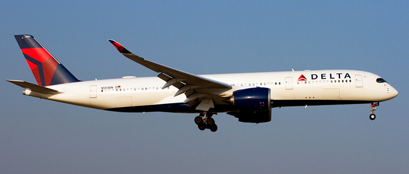 Airbus A350-900 Delta Airlines. Photos and description of the plane