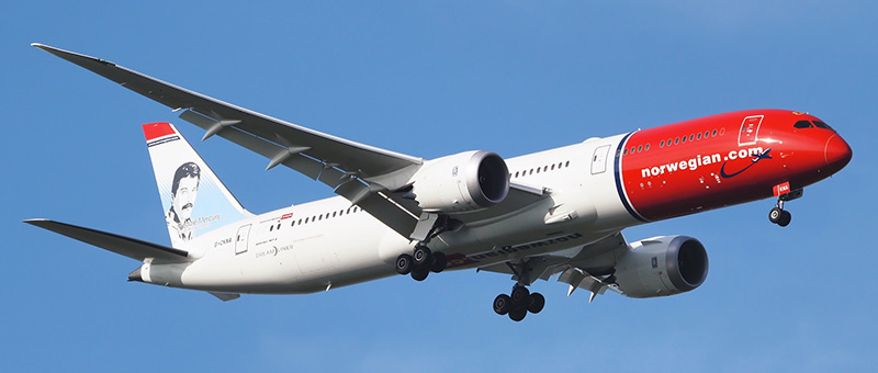 Boeing 787-9 Norwegian Air Shuttle. Photos and description of the plane