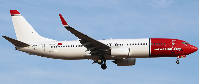 Boeing 737-800 Norwegian Air Shuttle. Photos and description of the plane