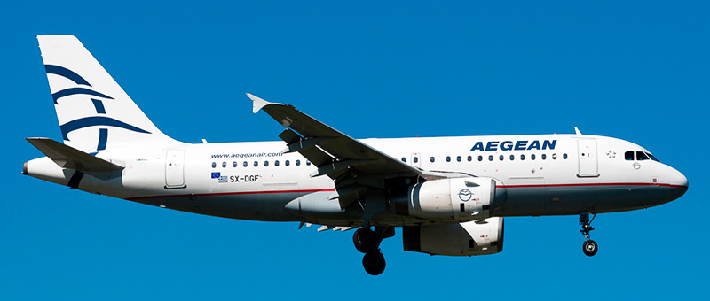 Airbus A319 Aegean Airlines. Photos and description of the plane