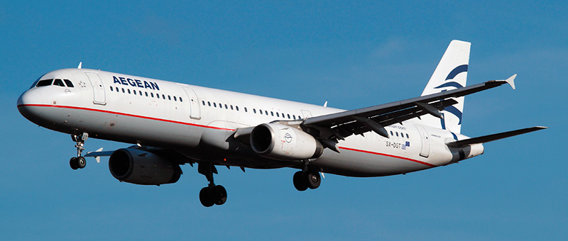 Airbus A321 Aegean Airlines. Photos and description of the plane