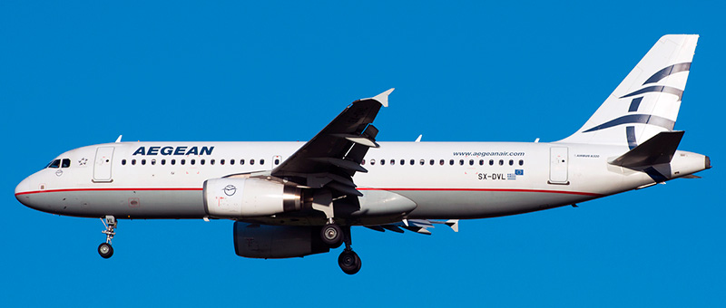 Airbus A320 Aegean Airlines. Photos and description of the plane