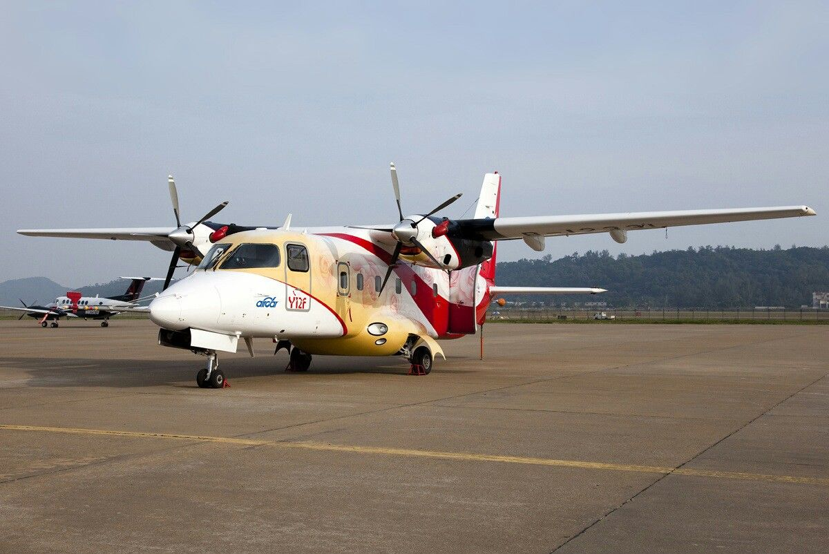 Airplane Y-12 started flights to remote regions of the North-East of the China