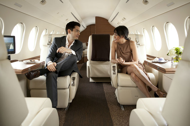 Private airplane for mobile phone: follies of rich people