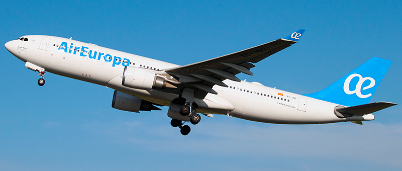 """Seat map Airbus A330-200 """"Air Europa"""". Best seats in the plane"""