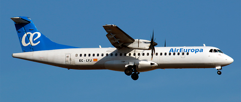 ATR 72 Air Europa. Photos and description of the plane