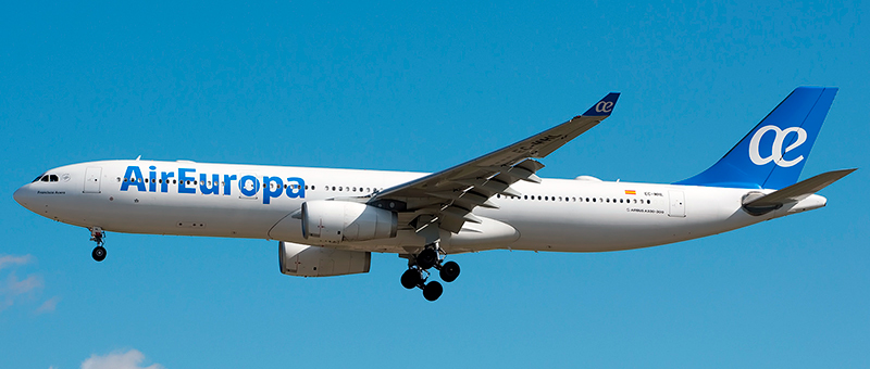"""Seat map Airbus A330-300 """"Air Europa"""". Best seats in the plane"""