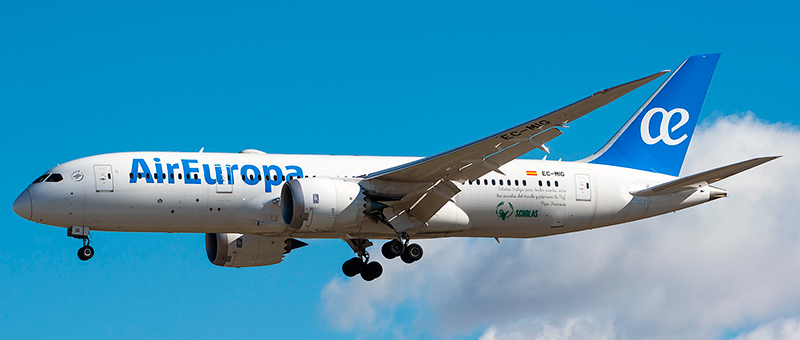 Boeing 787-8 Air Europa. Photos and description of the plane