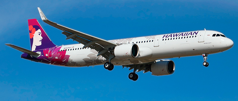 """Seat map Airbus A321neo """"Hawaiian Airlines"""". Best seats in the plane"""