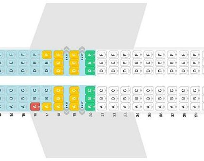 """Seat map Boeing 737 MAX 8 """"Air Canada"""". Best seats in the plane"""