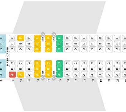 "Seat map Boeing 737 MAX 8 ""Aeromexico"". Best seats in the plane"