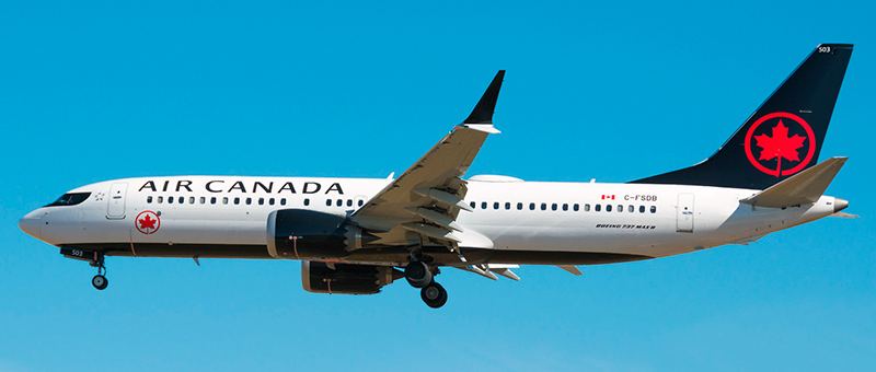 Boeing 737 MAX 8 Air Canada. Photos and description of the plane