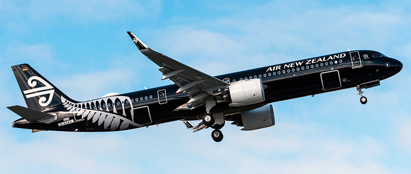Airbus A321neo Air New Zealand. Photos and description of the plane