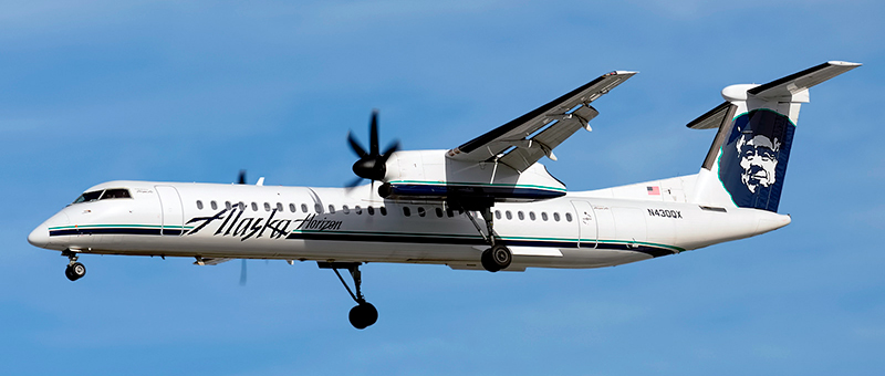 De Havilland Canada DHC-8-400 Alaska Airlines. Photos and description of the plane