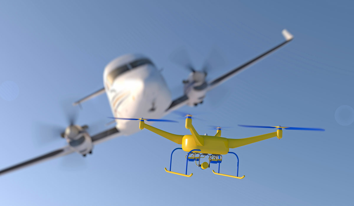 In USA have been collided drone and airplane