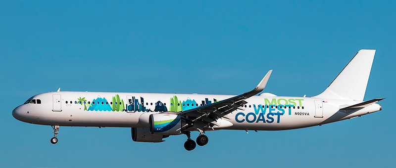 Airbus A321neo Alaska Airlines. Photos and description of the plane