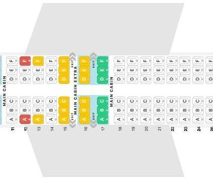 """Seat map Boeing 737 MAX 8 """"American Airlines"""". Best seats in the plane"""