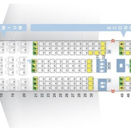 "Seat map Boeing 787-9 Dreamliner ""El Al"". Best seats in the plane"