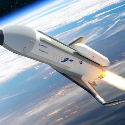 Boeing began construction of the space unmanned aerial vehicle. Part 1