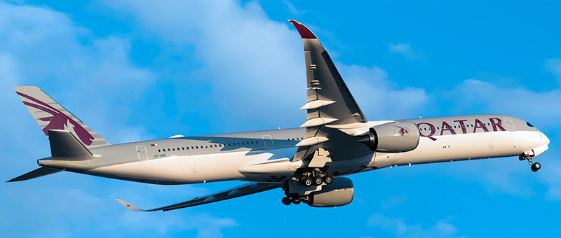 Airbus A350-1000 Qatar Airways. Photos and description of the plane