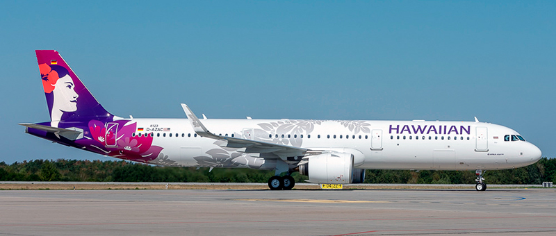 Airbus A321neo Hawaiian Airlines. Photos and description of the plane