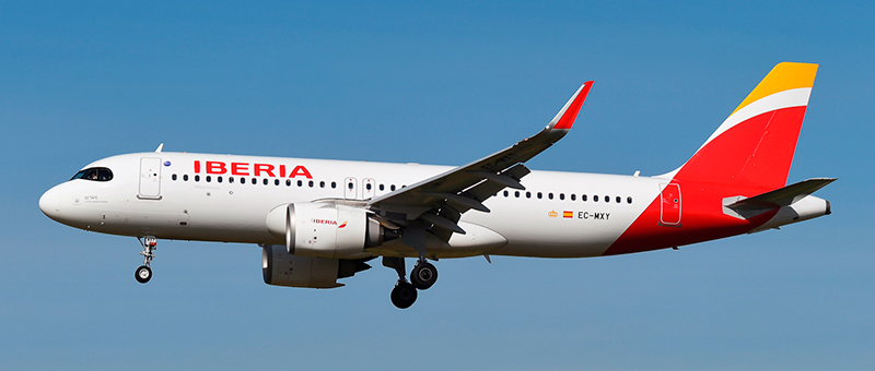 Airbus A320neo Iberia. Photos and description of the plane