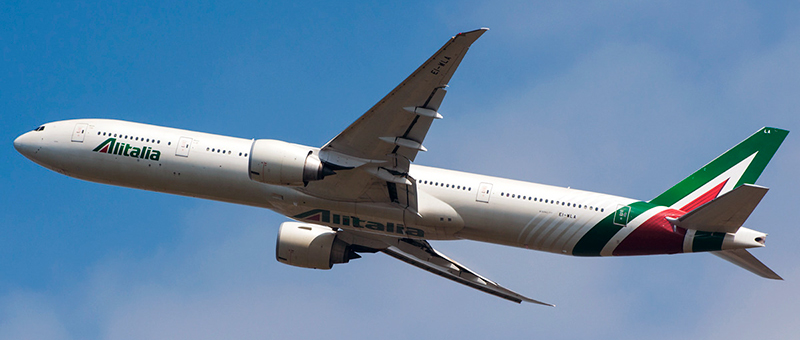 Boeing 777-300 Alitalia. Photos and description of the plane