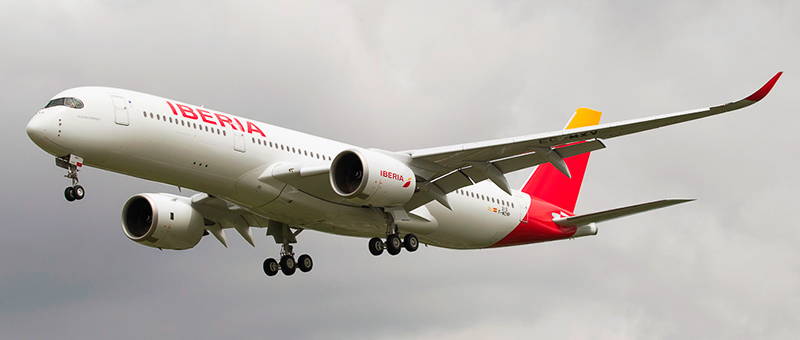 Airbus A350-900 Iberia. Photos and description of the plane