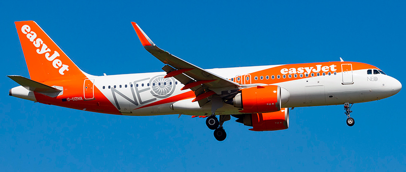 Airbus A320neo EasyJet. Photos and description of the plane