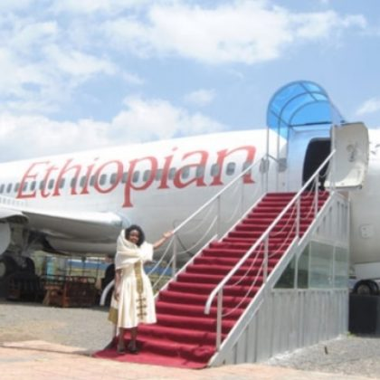 Meal at height: in Ethiopia old airplane was turned to cafeteria
