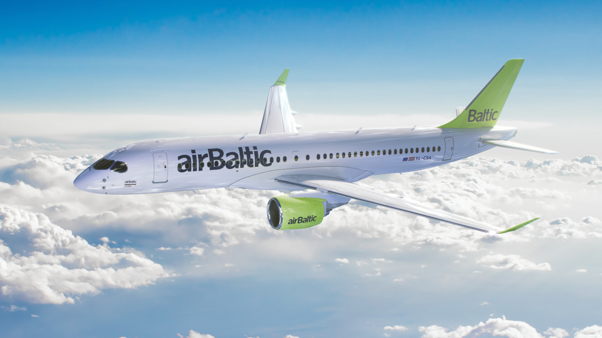 AirBaltic airplanes got the names of Latvian cities