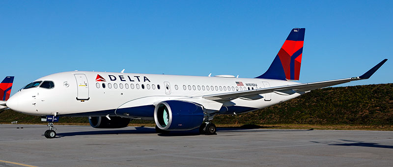 Airbus A220-100 Delta AirLines. Photos and description of the plane