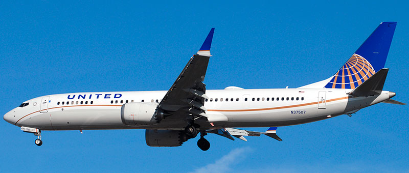 Boeing 737 MAX 9 United Airlines. Photos and description of the plane