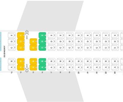 """Seat map Airbus A220-100 """"Delta Air Lines"""". Best seats in the plane"""