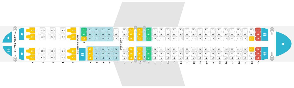 Seat Map Boeing 737 Max 9 United Airlines Best Seats In The Plane