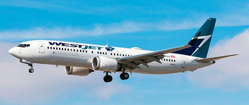 Boeing 737 MAX 8 WestJet. Photos and description of the plane