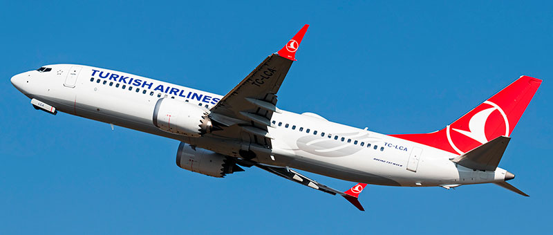 Boeing 737 MAX 8 Turkish Airlines. Photos and description of the plane