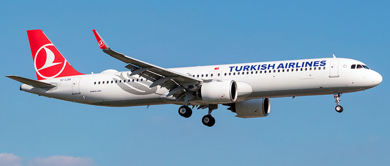 Airbus A321neo Turkish Airlines. Photos and description of the plane