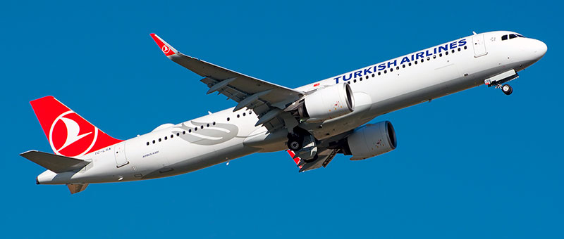 """Seat map Airbus A321neo """"Turkish Airlines"""". Best seats in the plane"""